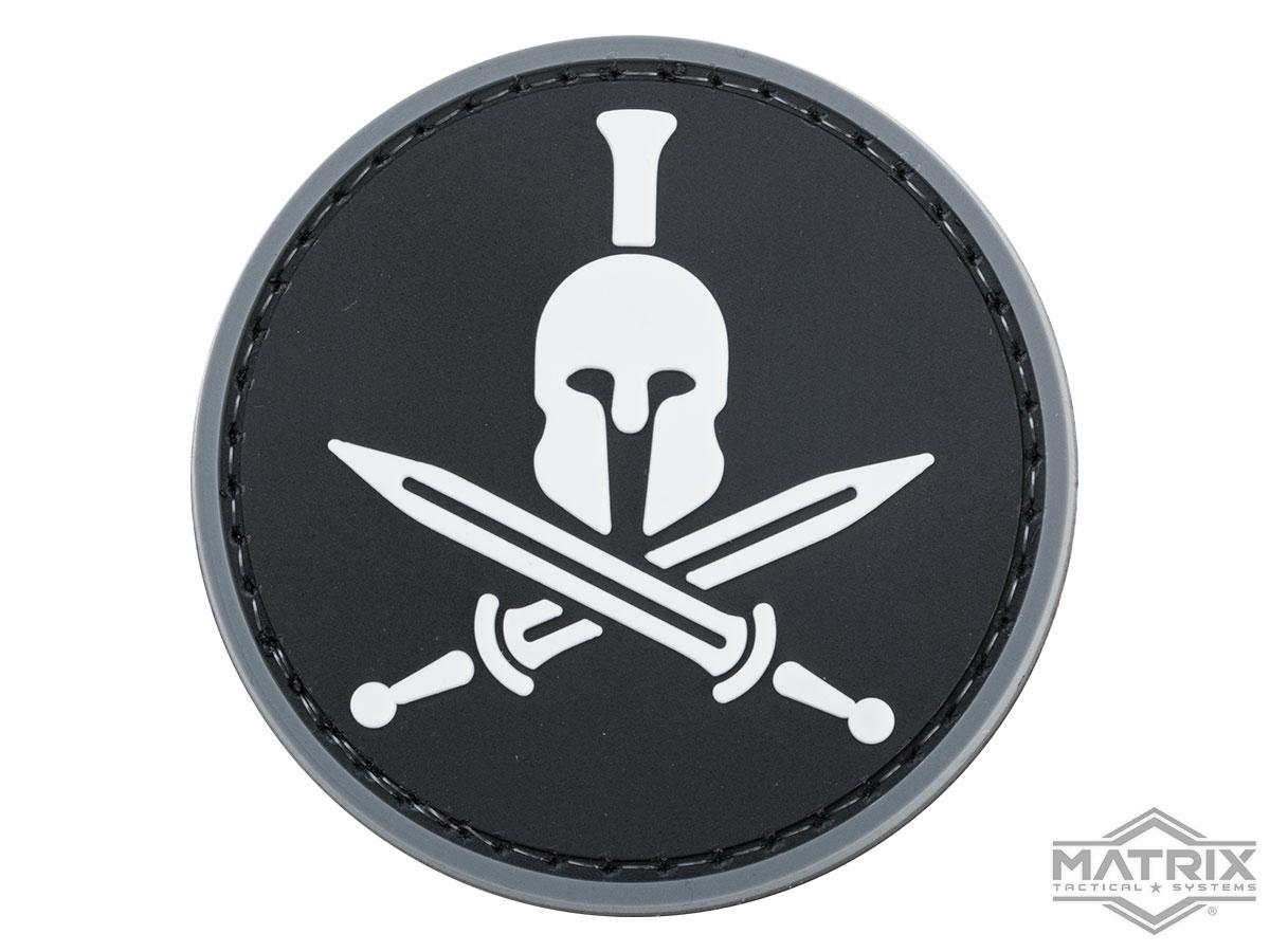 Matrix Spartan Swords PVC Morale Patch (Color: Black / White)