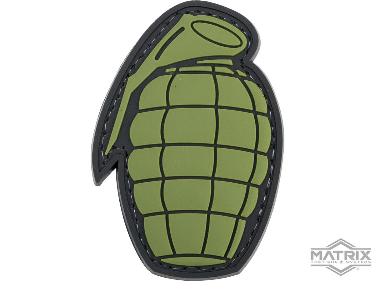 Matrix Pineapple Grenade PVC Morale Patch (Color: OD Green)