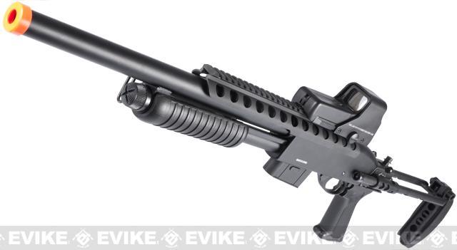 Matrix Full Metal M870 Tactical Tac Shot Airsoft Shotgun by A&K (400 FPS)