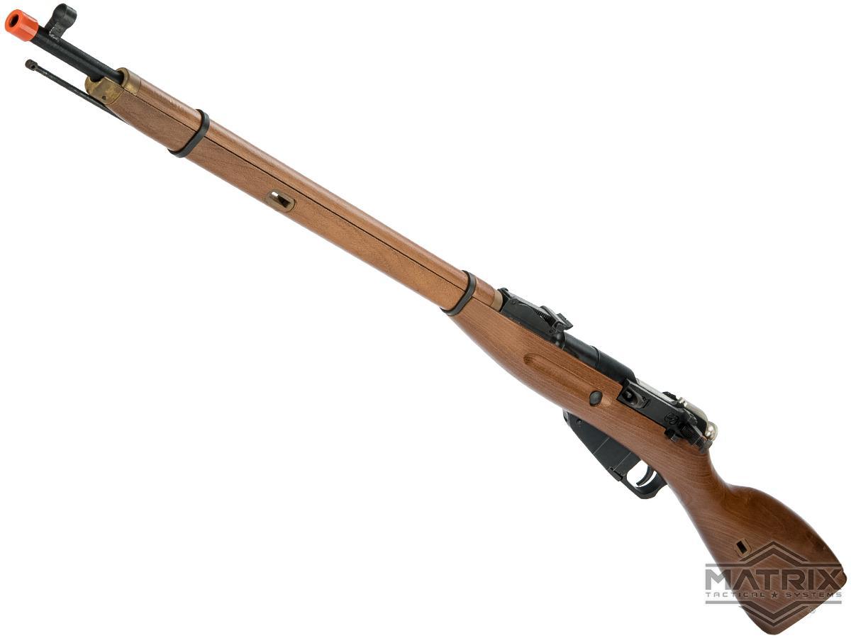 Matrix Mosin Nagant Gas Powered Bolt Action Airsoft Rifle (Model: Steel / Real Wood / PU Sniper Variant)