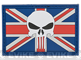United Kingdom Skull  PVC Morale Patch - Subdued