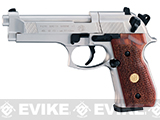Umarex Beretta M92FS CO2 Air Pistol - Nickel with Wood Grips (.177 cal Air Gun)
