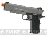Elite Force Full Metal 1911 Tactical CO2 Airsoft Gas Blowback Pistol Umarex KWC (Color: Stealth Grey)