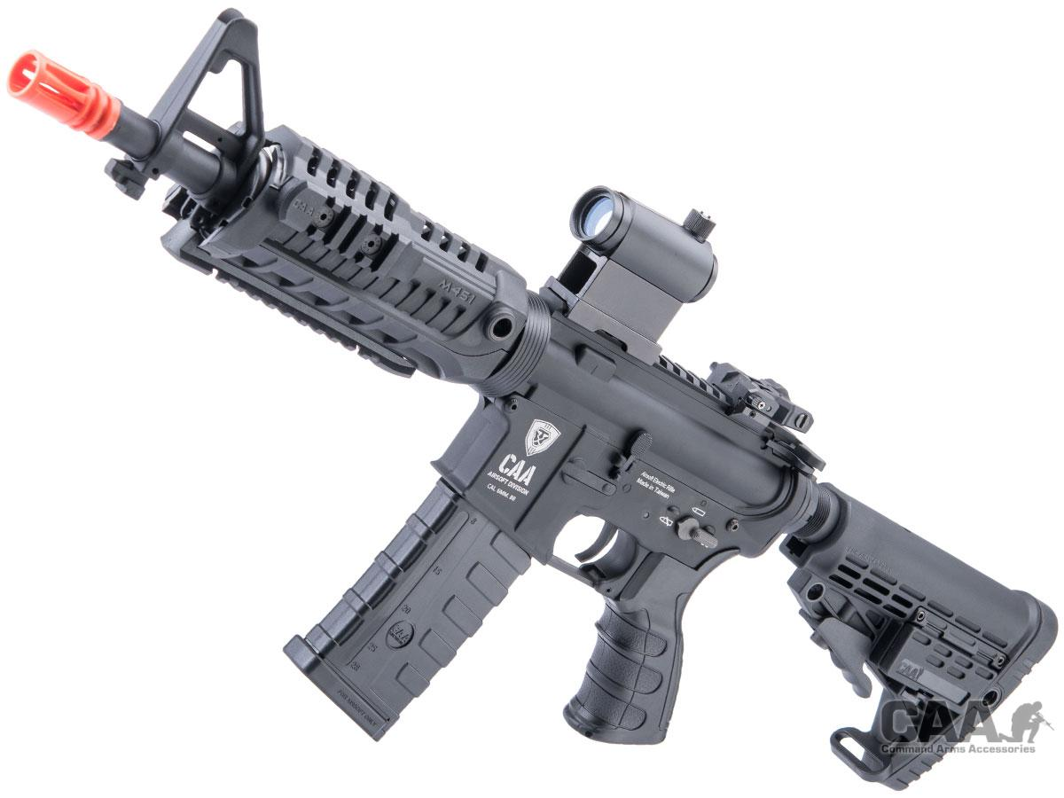 King Arms Command Arms Licensed Full Metal M4-S1 Airsoft AEG Rifle (Model: Black / CQB)