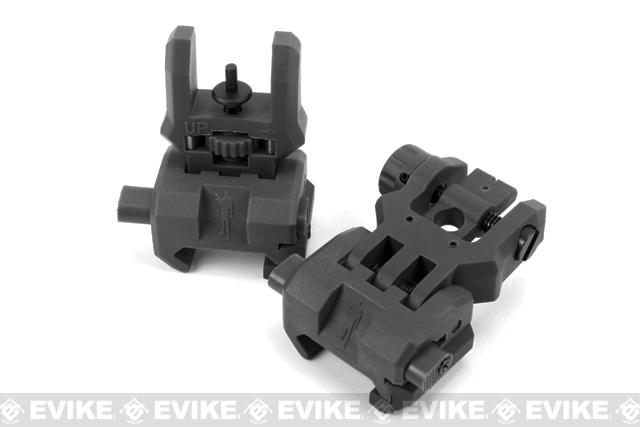 Command Arms (CAA) Licensed Low Profile Flip-up Sights Set (Color: Black)