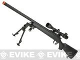 AGM M700 Airsoft Bolt Action Sniper Rifle with Scope Rail - Black (Package: Rifle)