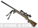 AGM M700 Airsoft Bolt Action Sniper Rifle with Scope Rail - Imitation Wood