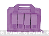 Voodoo Tactical Padded Pistol Case w/ Mag Pouches - Purple