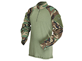 Tru-Spec Tactical Response Uniform 1/4 Zip Combat Shirt (Color: Woodland / Medium)