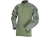 Tru-Spec Tactical Response Uniform 1/4 Zip Combat Shirt (Color: OD Green / Small)