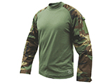 Tru-Spec Tactical Response Uniform Combat Shirt (Color: Woodland / X-Large)