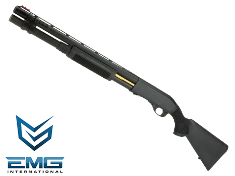 EMG Salient Arms Licensed M870 CAM X MKII Airsoft Training Shotgun (Model: Police / Black)