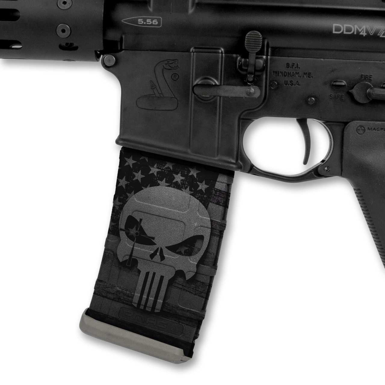 US NightVision Mag Wraps™ Rapid Wraps Chris Kyle Series (Version: Punisher Stealth Black)