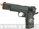 Evike.com Nostradamus Custom 1911 Gas Blowback Airsoft Pistol with Angel Custom Tac-Glove Grips (Sign: Scorpio)