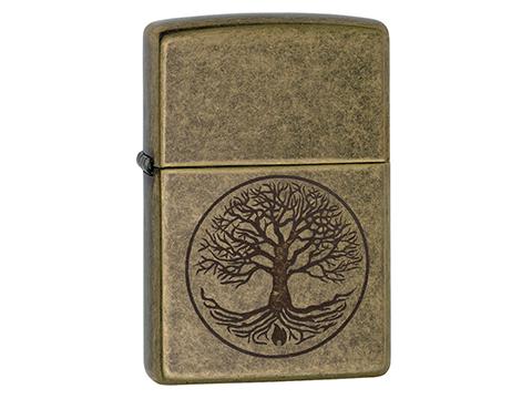 Zippo Classic Lighter Graphics Series (Model: Tree of Life / Antique Brass)