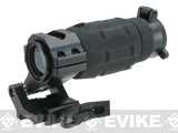 Tactical 4X Magnifier w/ Flip Up Cap & Twist Off QD Weaver Mount for Airsoft Red dot scopes