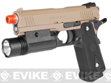 Pre-Order Estimated Arrival: 04/2014 --- CQB Master Limited Edition Full Metal 4.3 HICAPA Railed Frame Heavy Weight Airsoft Gas Blowback Pistol (Tan)