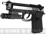 Pre-Order Estimated Arrival: 11/2014 --- WE M9A1 S.O.C. Special Edition Gas Blowback Pistol - Two Tone Stainless Chrome -
