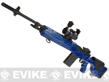 G&P M14 Socom-16 DMR Custom Airsoft AEG Sniper Rifle w/ Red Dot Scope - Navy Blue