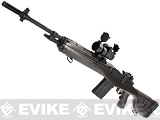 G&P M14 Socom-16 DMR Custom Airsoft AEG Sniper Rifle w/ Red Dot Scope - Gun Metal