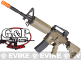 G&P M4 Carbine Full Metal Airsoft AEG Rifle w/ Crane Stock - (Dark Earth)