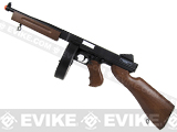 "SoftAir Licensed Thompson M1A1 ""Tommy Gun"" Airsoft AEG Rifle (Imitation Wood / ABS Gearbox)"
