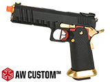 AW Custom Competitor Hi-CAPA Gas Blowback Airsoft Pistol (Package: Black & Gold / Gun Only)