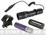 "Matrix ""Sirius"" 300 Lumen Tactical Everyday Carry Flashlight w/ Rechargeable Battery Kit - Black"