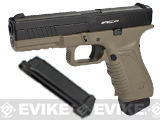 Pre-Order Estimated Arrival: 02/2015 --- APS ACP Full Metal CO2 Powered Airsoft GBB Gas Blowback Pistol with Extra Magazine - Dark Earth