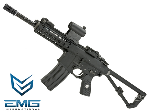 EMG Knights Armament Airsoft PDW M2 Gas Blowback Airsoft Rifle (Model: 400FPS / Green Gas Magazine)