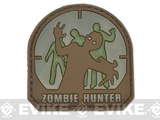 Matrix Zombie Hunter PVC IFF Hook and Loop Patch (Color: Arid)
