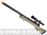 Snow Wolf USMC M24 Military Airsoft Bolt Action Scout Sniper Rifle - Desert