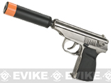 WE-Tech Russian PMM Airsoft Gas Blowback GBB Pistol (Color: Silver)