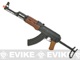 CYMA Standard Full Metal AK47-S Airsoft AEG Rifle w/ Steel Folding Stock and Real Wood Furniture