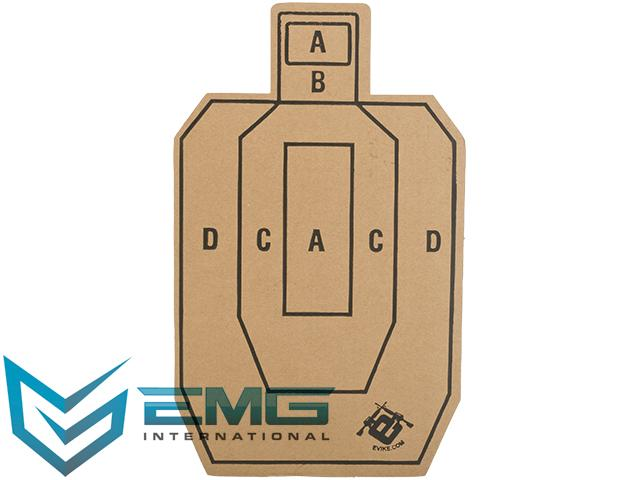 Professional Evike.com Silhouette Tactical Training Targets with Scoring Rings - Set of 20 (Model: Evike 10x16)