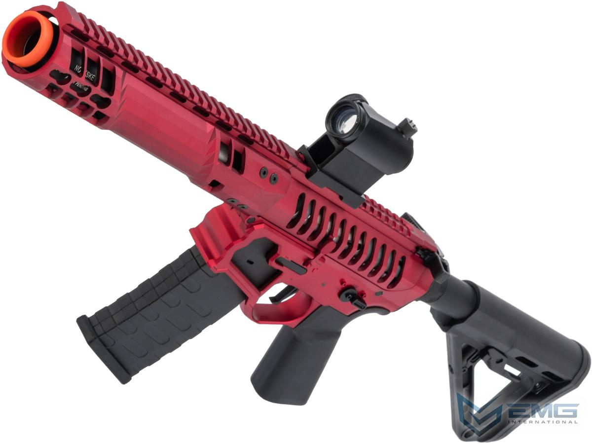 EMG F-1 Firearms PDW Airsoft AEG Training Rifle w/ eSE Electronic Trigger (Model: Red - Black / RS-3 350 FPS)