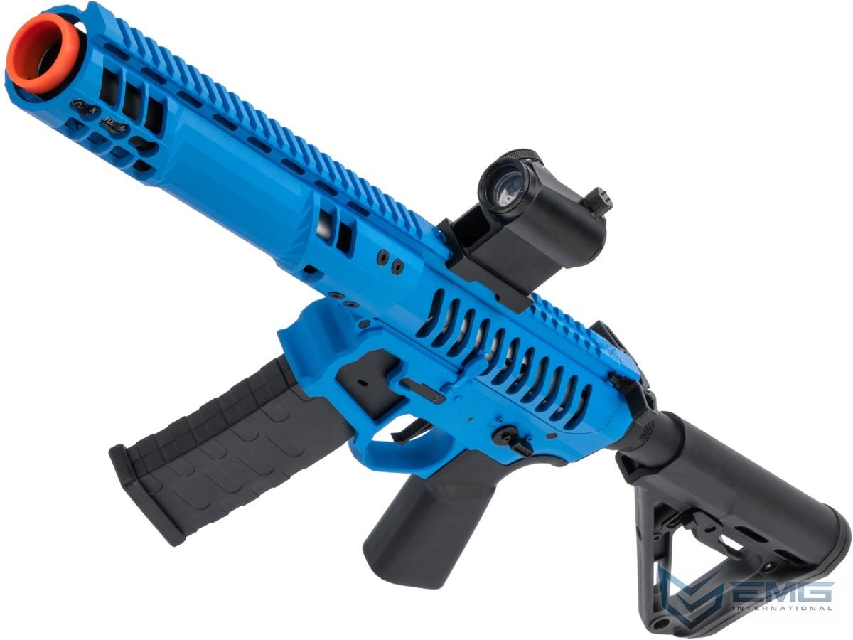 EMG F-1 Firearms PDW Airsoft AEG Training Rifle w/ eSE Electronic Trigger (Model: Blue - Black / RS-3 350 FPS)