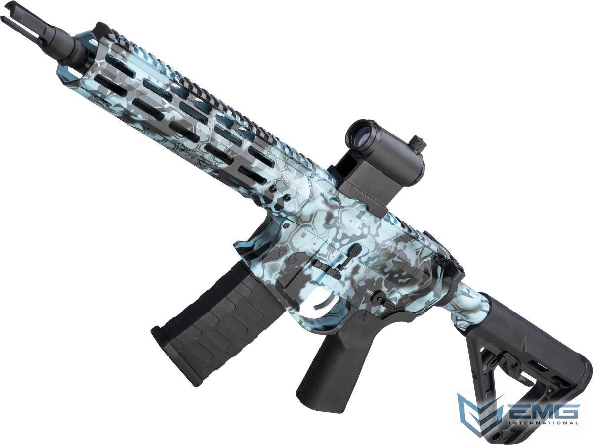 EMG NOVESKE Gen 4 w/ eSilverEdge SDU2.0 Gearbox Airsoft AEG Training Rifle (Model: Shorty / Kryptek Obskura Blue)