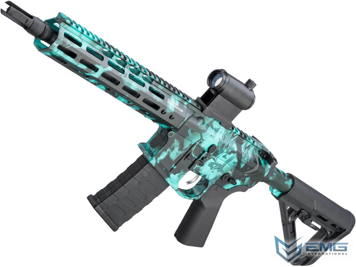 EMG NOVESKE Gen 4 w/ eSilverEdge SDU2.0 Gearbox Airsoft AEG Training Rifle (Model: Shorty / Kryptek Obskura Aqua)