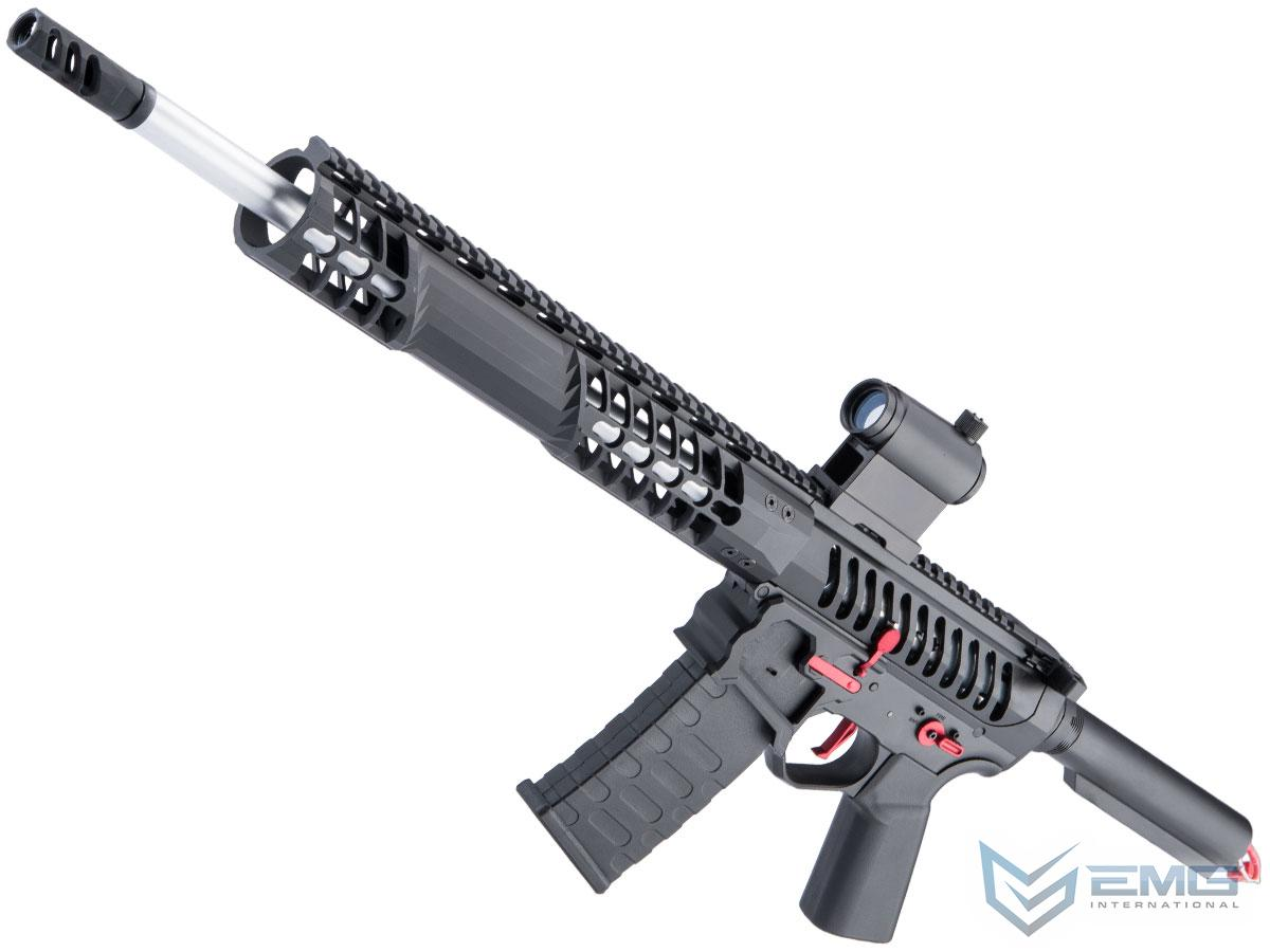 EMG F-1 Firearms BDR-15 3G AR15 2.0 eSilverEdge Full Metal Airsoft AEG Training Rifle (Model: Black - Red / No Stock 400 FPS)
