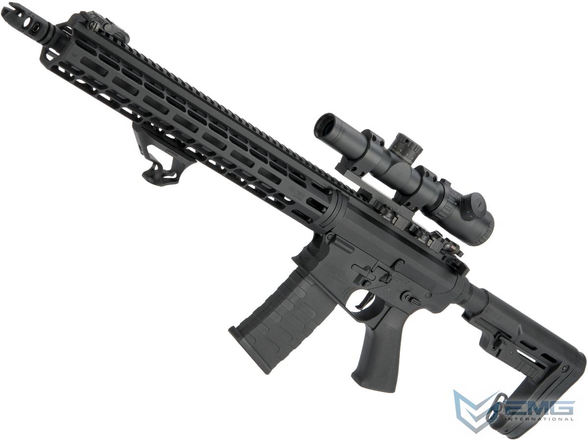 EMG Falkor AR-15 RECCE 2.0 eSilverEdge Training Weapon M4 Airsoft AEG Rifle (Color: Blackout / 400 FPS)