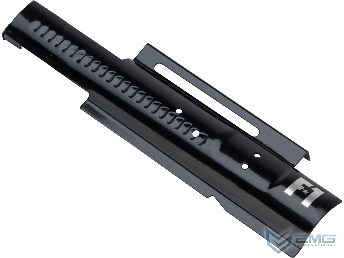 EMG F-1 Firearms Mock Bolt Plate for APS M4/M16 Airsoft AEGs (Model: Glossy Black / Electric Blowback)