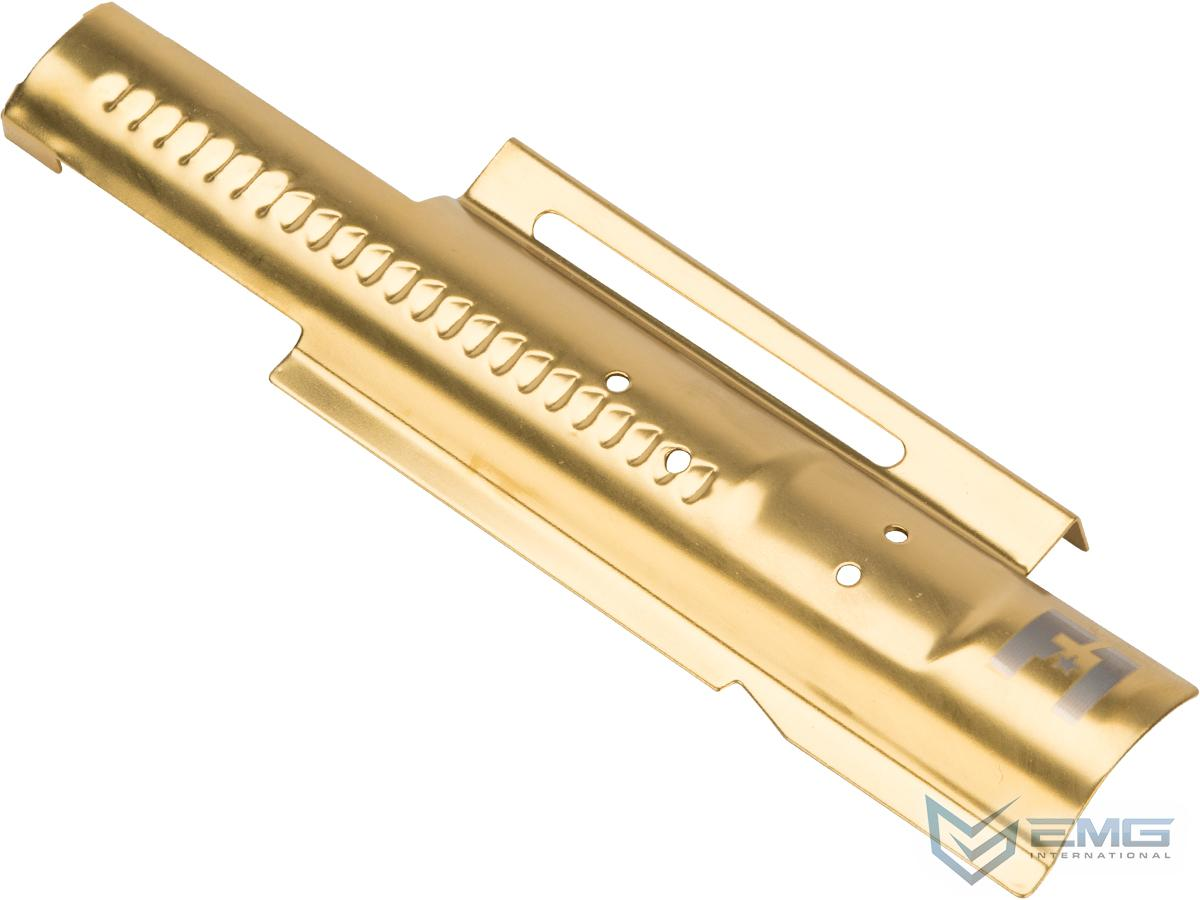 EMG F-1 Firearms Mock Bolt Plate for APS M4/M16 Airsoft AEGs (Model: Gold / Standard Non-Blowback)