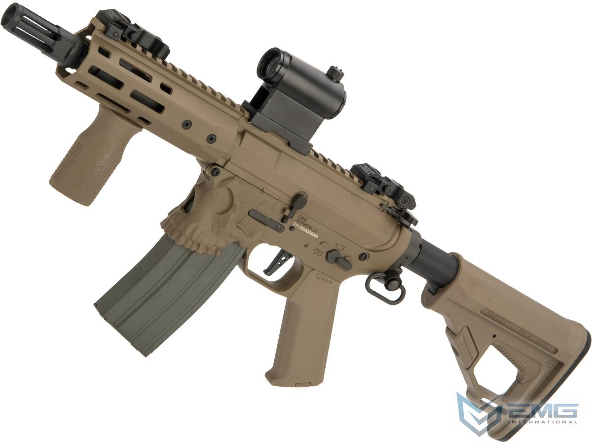 EMG / Sharps Bros Jack Licensed Advanced M4 Airsoft AEG Rifle with Super High Torque Slim Motor Grip (Color: Tan / 7 SBR)