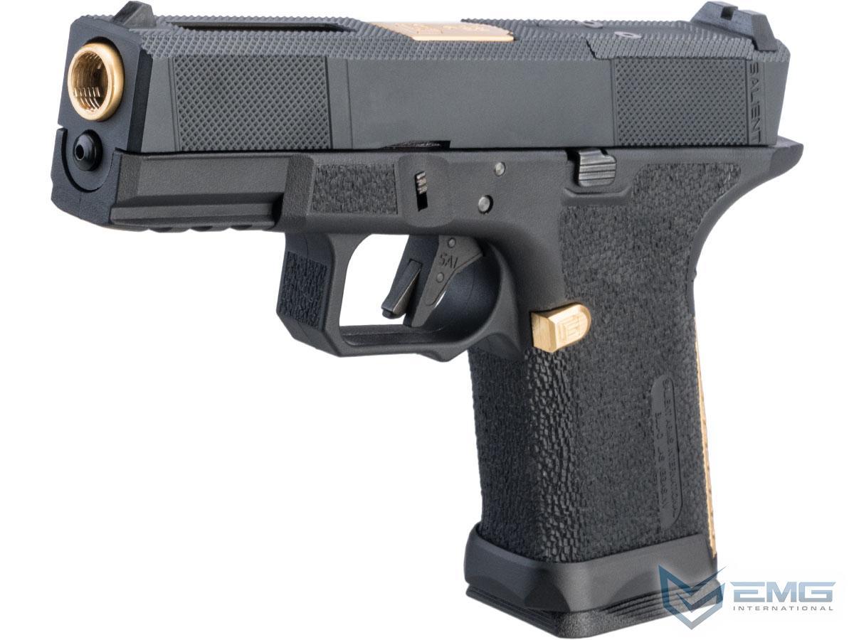 EMG SAI BLU Compact w/ EMG Tier One Utility RMR-Cut Slide GBB Airsoft Pistol (Color: Gold)