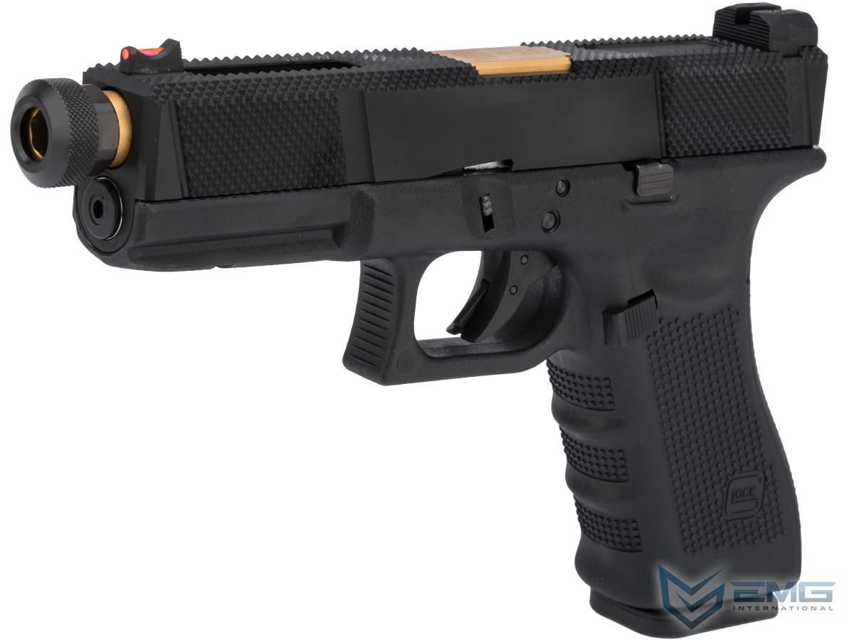 Elite Force Fully Licensed GLOCK 17 Gen.4 w/ EMG Salient Arms International Tier One Utility Slide (Type: Green Gas)