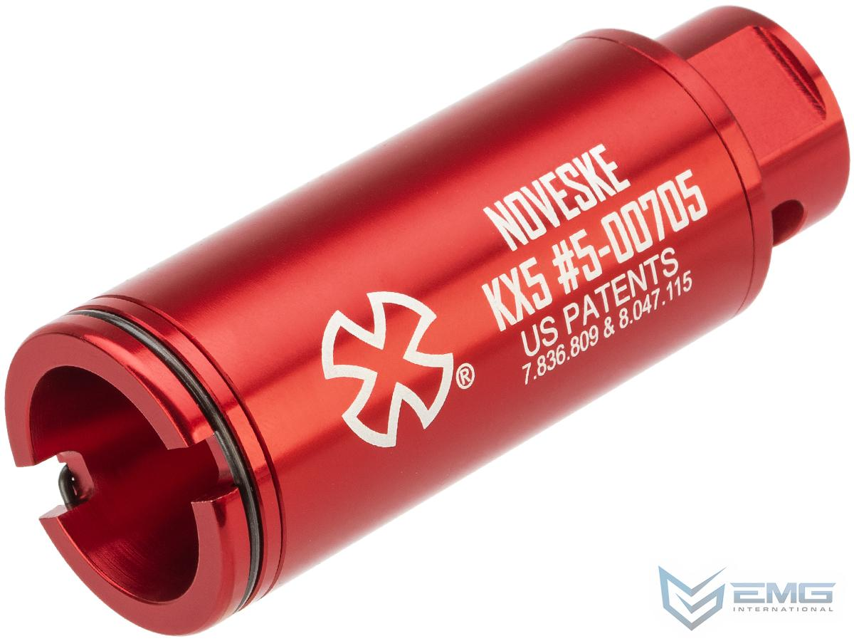 EMG Noveske Flash Hider w/ Built-In ACETECH Lighter S Ultra Compact Rechargeable Tracer (Model: KX5 / Anodized Red)