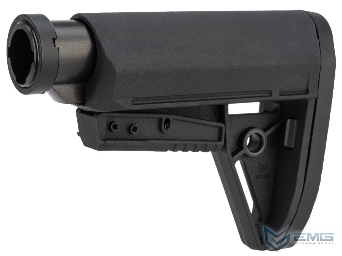 EMG BRAVO Slimline Retractable Stock for M4 Series Airsoft Rifles (Type: Compact w/ Buffer Tube / Black)
