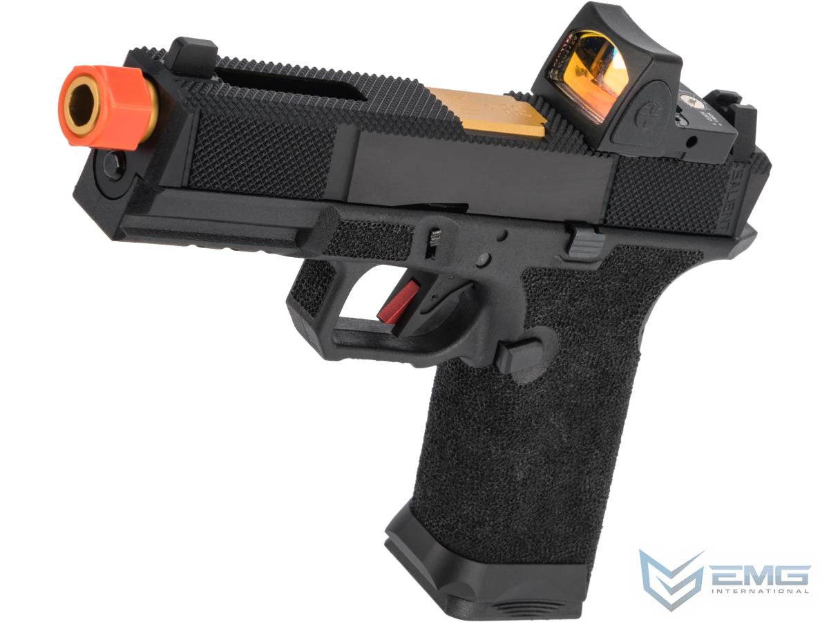 EMG Salient Arms International BLU w/ EMG Tier One Utility Slide & Red Dot Gas Blowback Airsoft Pistol