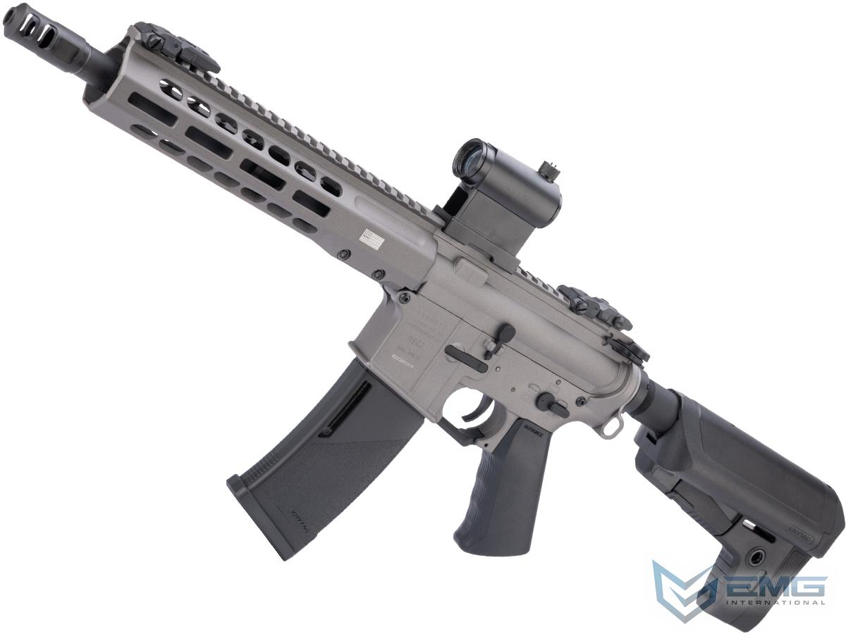 EMG / KRYTAC / BARRETT Firearms REC7 DI AR15 AEG Training Rifle (Length: SBR / Tungsten / 350 FPS)